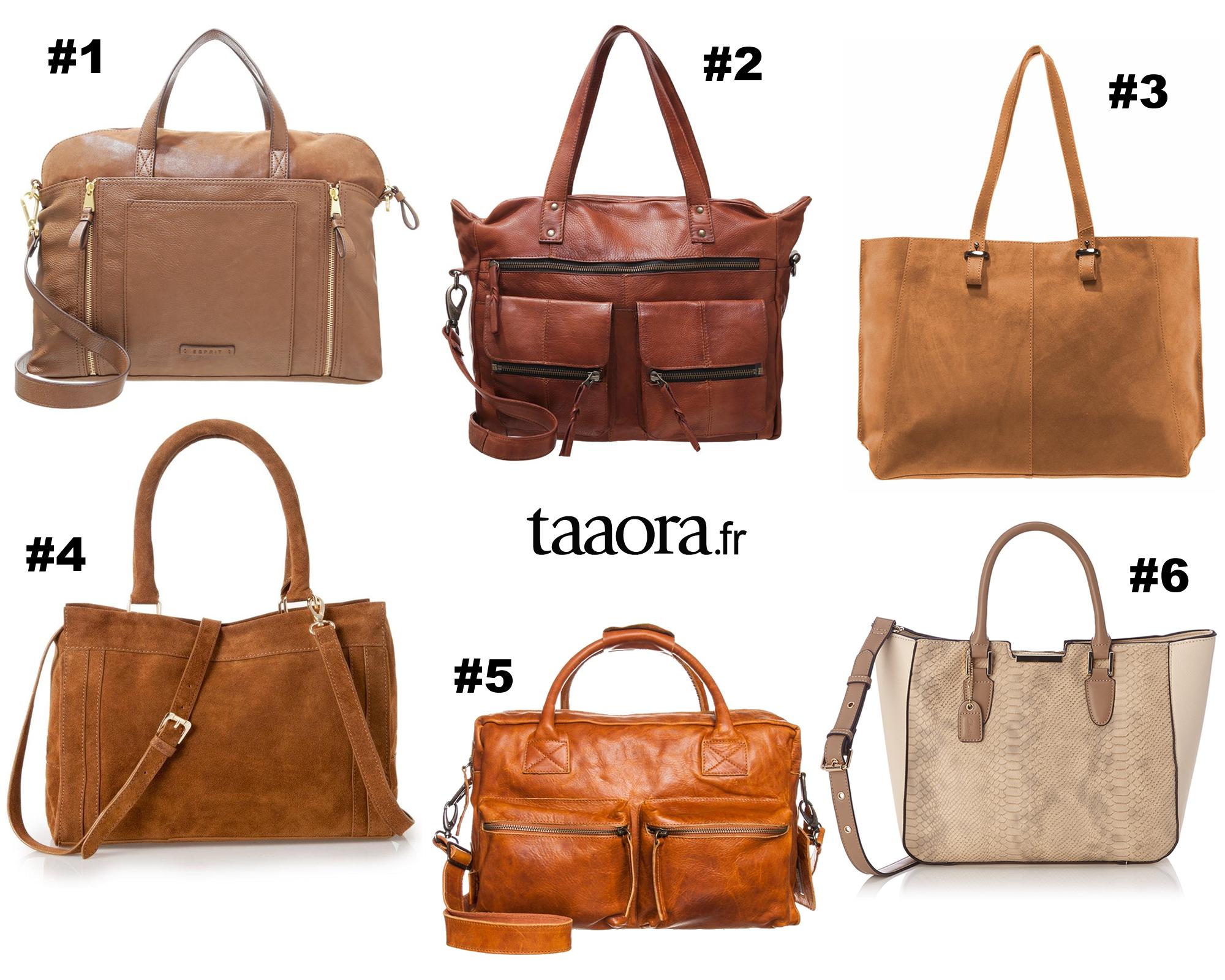 29cfdf8b53 Rentrée : 6 grands sacs pour le lycée de couleur marron, camel ou ...