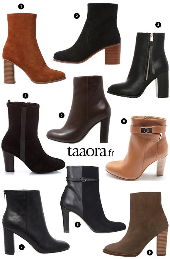 bottines tendance automne hiver 2015 2016 les boots indispensables de la saison taaora. Black Bedroom Furniture Sets. Home Design Ideas