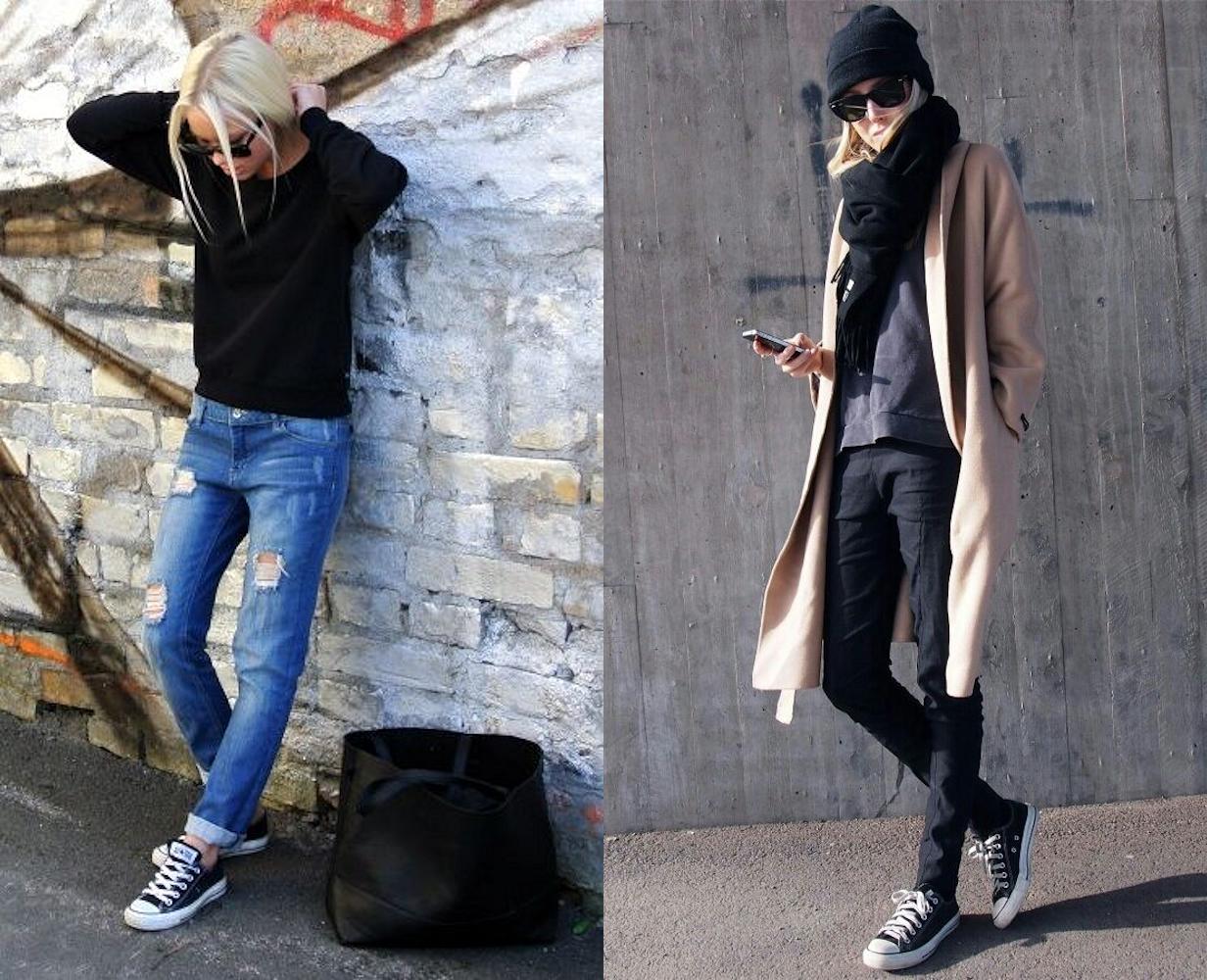 f01aa1c53e33e Converse noires   idées de tenues de blogueuses mode – Taaora – Blog ...