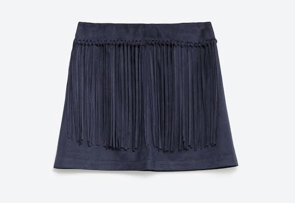 Avec Quoi Porter Une Jupe En Daim Bleu Marine Taaora Blog Mode Tendances Looks