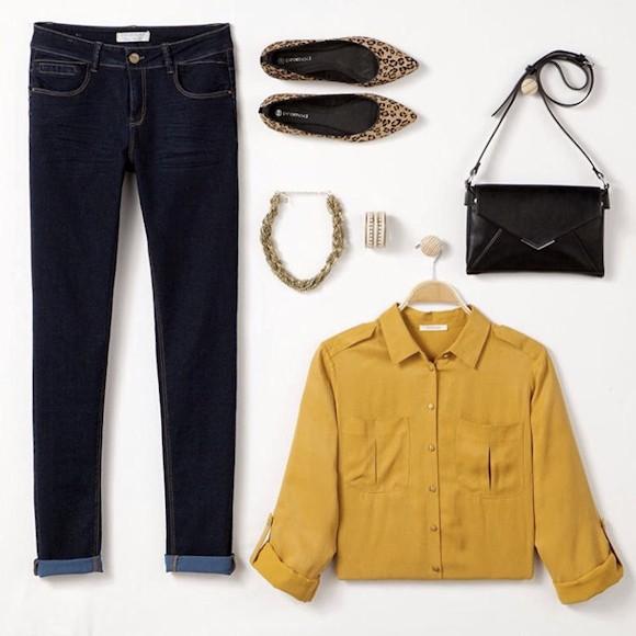 comment porter le jaune safran tendance cet hiver le bon mix la chemise jaune soyeuse avec. Black Bedroom Furniture Sets. Home Design Ideas