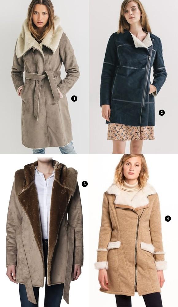 4 manteaux bien chauds avec fausse fourrure pour adoucir. Black Bedroom Furniture Sets. Home Design Ideas
