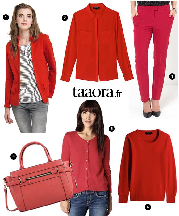 rouge couleur automne hiver 2015 2016 le bon shopping. Black Bedroom Furniture Sets. Home Design Ideas