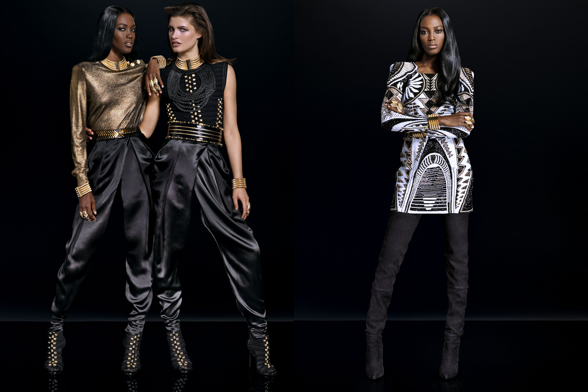 Balmain x h m toutes les photos du lookbook de la collection femme - H m ancienne collection ...