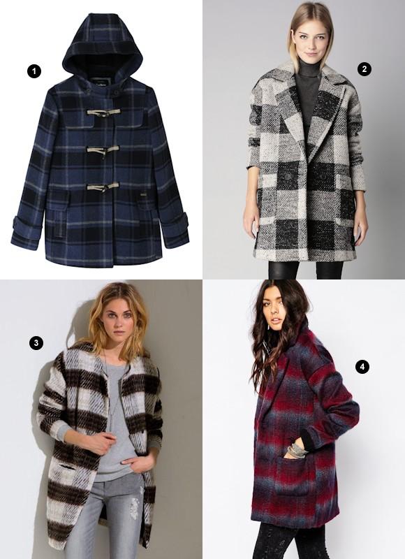 manteaux carreaux tendance hiver 2016 taaora blog mode tendances looks. Black Bedroom Furniture Sets. Home Design Ideas