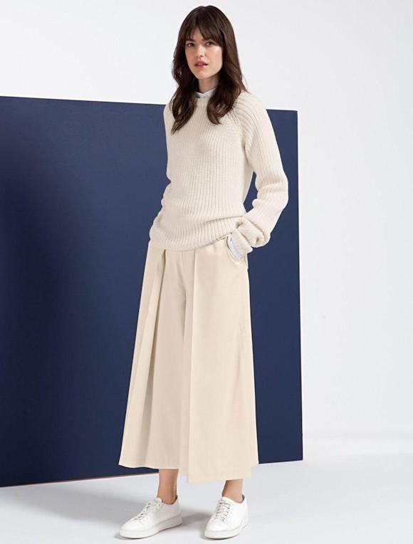 avec quoi porter la jupe culotte tendance cet automne hiver id e de tenue casual chic et sport. Black Bedroom Furniture Sets. Home Design Ideas