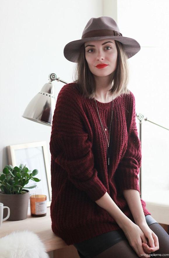 Idée de tenue avec pull bordeaux