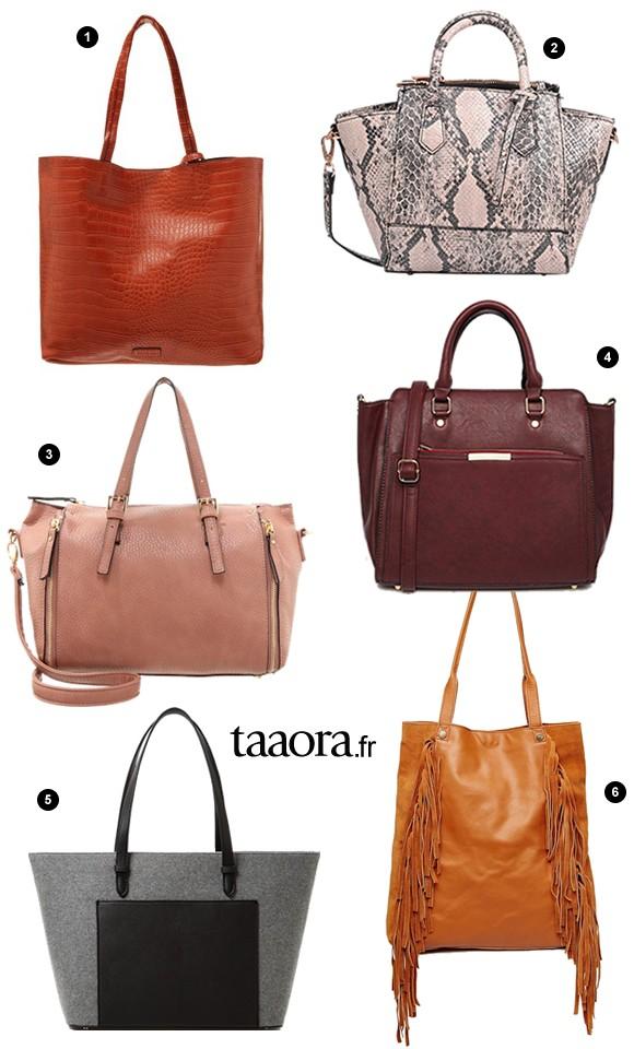 6 sacs pour l automne hiver moins de 50 taaora blog mode tendances looks. Black Bedroom Furniture Sets. Home Design Ideas