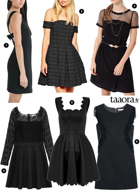 f tes 6 robes de soir e noires petit prix pour no l ou. Black Bedroom Furniture Sets. Home Design Ideas