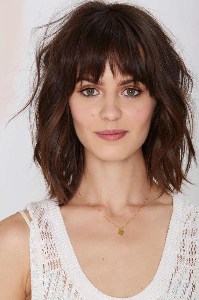 coiffure carre avec frange