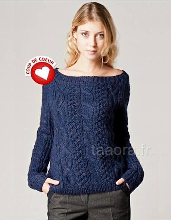 0cfb9186f940a Pull torsadé bleu marine femme pull laine bleu marine femme ...