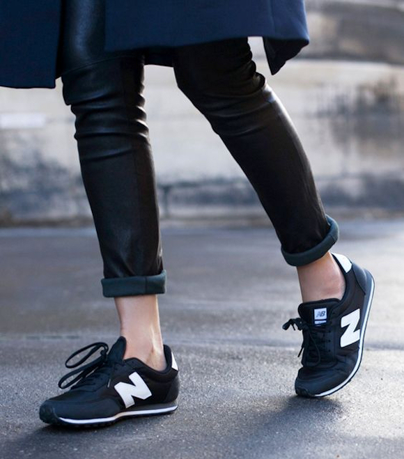 basket new balance cuir noir