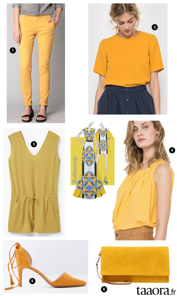 jaune buttercup couleur printemps t 2016 taaora blog mode tendances looks. Black Bedroom Furniture Sets. Home Design Ideas