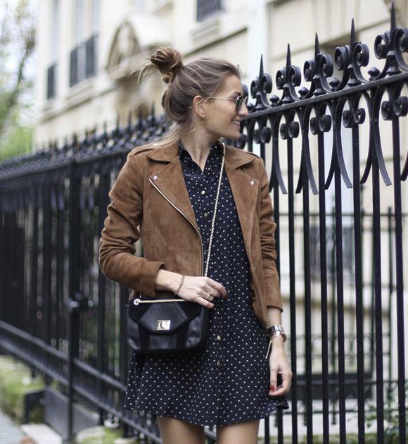 Veste courte robe noire