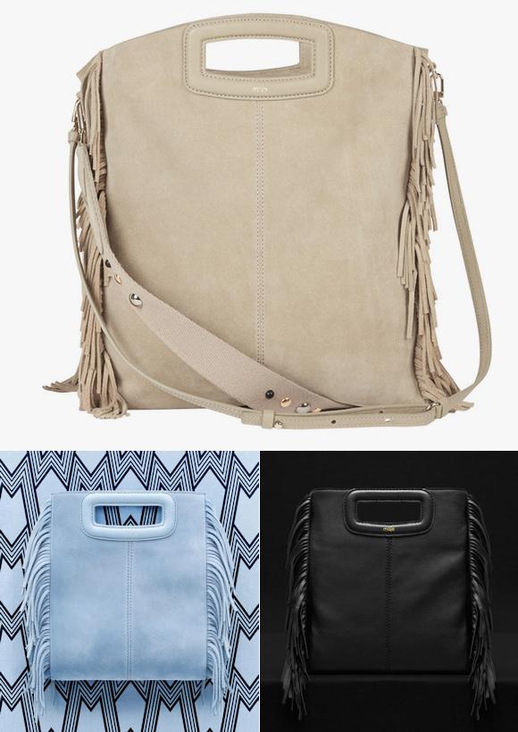812a1ffb3f Sac à franges « M » de Maje au style bohème chic : le nouvel it-bag de la  marque Maje