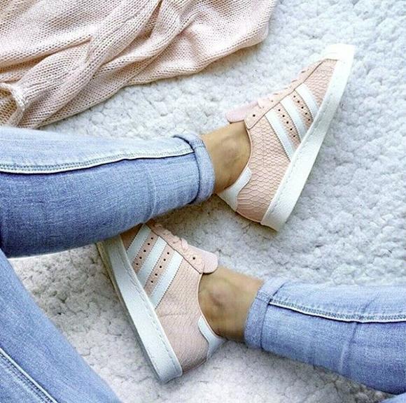 Sneakers roses reptile Adidas Superstar – Taaora – Blog Mode ...