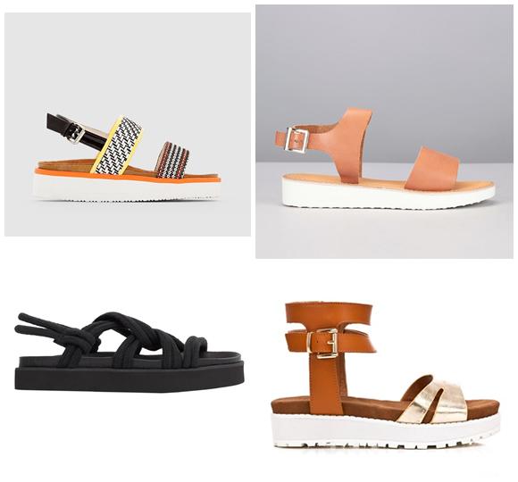Sandales semelle plateforme Noir BT5VKmd