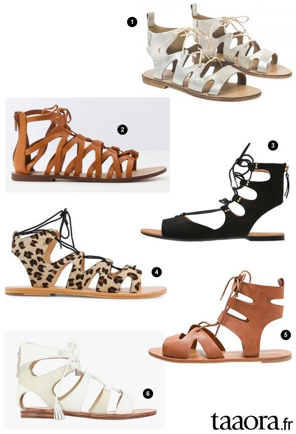 Sandales à lacets été 2016