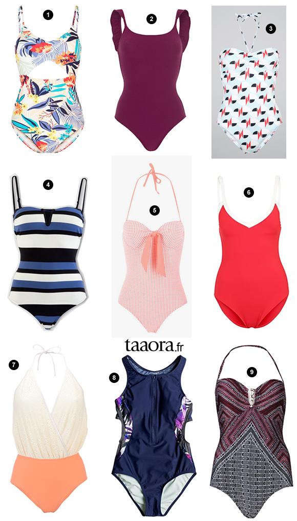 maillots de bain 1 pi ce tendances t 2016 taaora blog mode tendances looks. Black Bedroom Furniture Sets. Home Design Ideas
