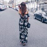 Une robe longue à imprimé floral et épaules dénudées pour un style élégant, chic et sexy