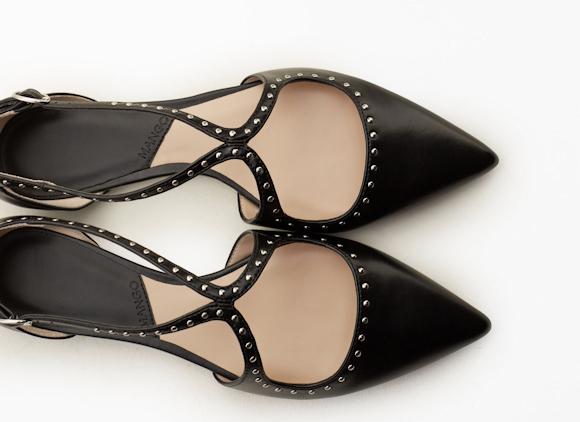 Plates Pointus Clousà Moins Chaussures À Bouts Noires Et De Petits Nn0yvm8wO