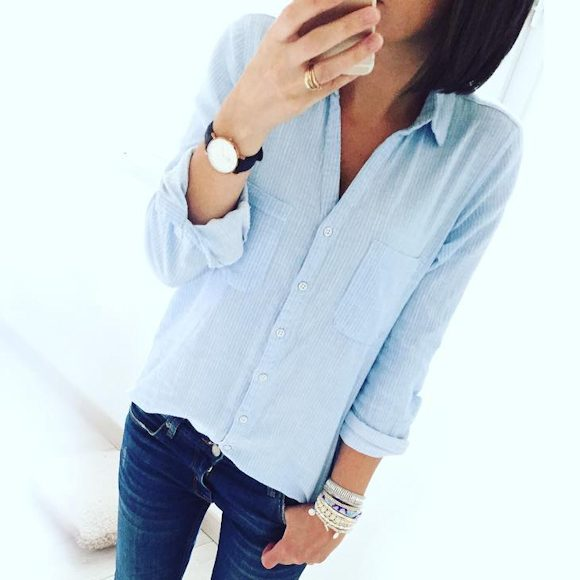 Looks taaora blog mode tendances looks - Comment porter une chemise en jean femme ...