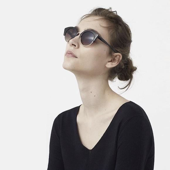 lunettes de soleil cat eye noires pour prendre le soleil avec l gance et style taaora. Black Bedroom Furniture Sets. Home Design Ideas