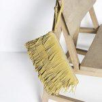 Pochette à franges jaune, couleur tendance 2016