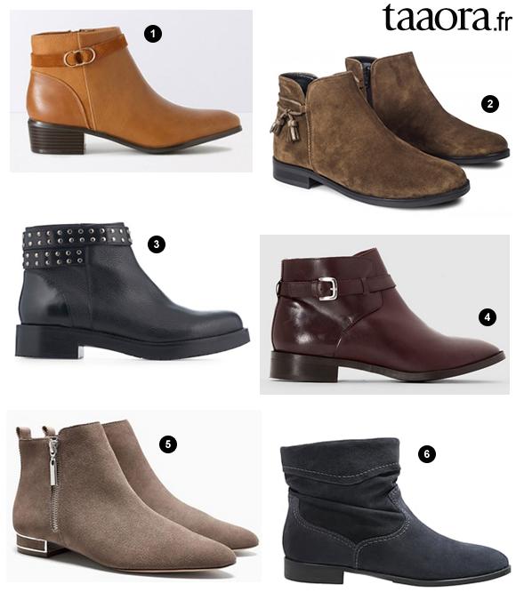 0ed9fc7eb63b5d Boots automne-hiver 2016-2017 : 6 boots à talons plats confortables et  faciles à porter !