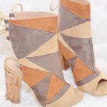 Boots patchwork à talons hauts style seventies (à moins de 50 euros)