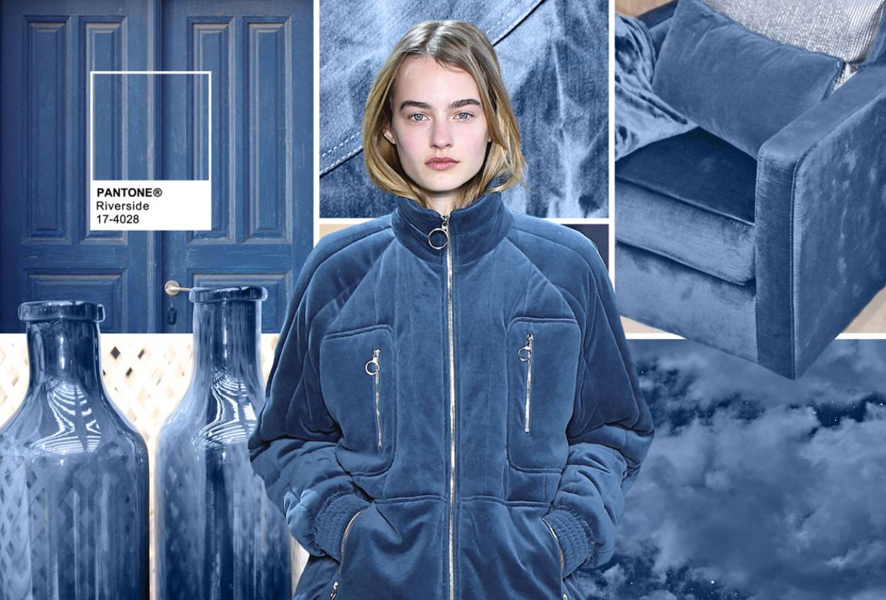 Bleu couleur mode hiver 2017