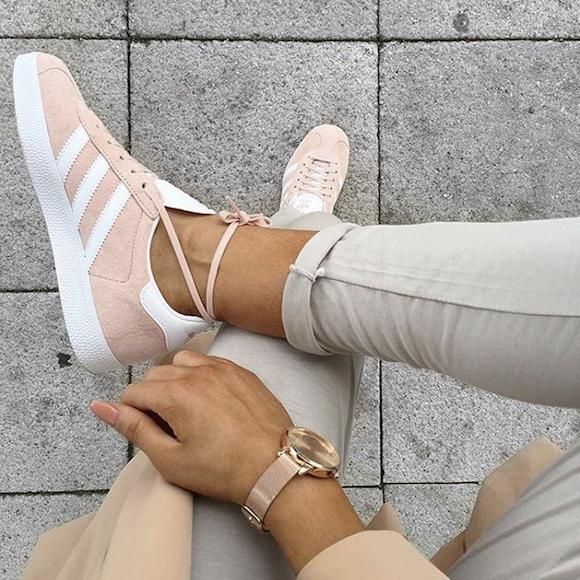 basket adidas femme gazelle rose