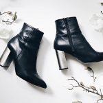 Boots noires tendance automne-hiver 2016-2017 avec des talons hauts en métal