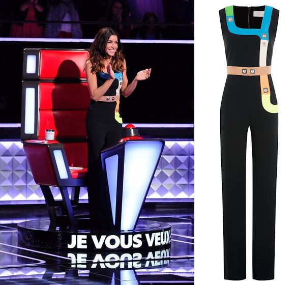 Jenifer look The Voice Kids 3 : combinaison Peter Pilotto