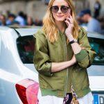 Un bomber kaki brillant comme Olivia Palermo : 3 vestes à shopper dans le même style !