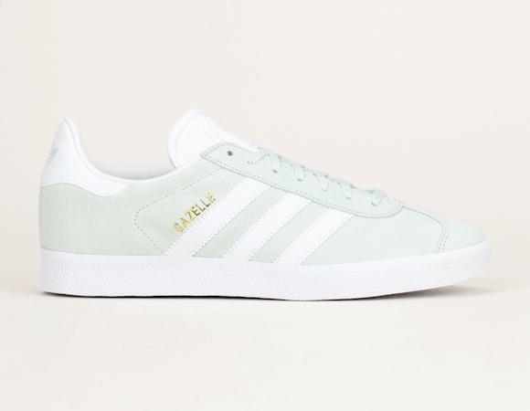 Gazelle vert d'eau à rayures blanches Adidas