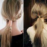Coiffure : accessoirisez votre queue de cheval floue avec un élastique cheveux métallique