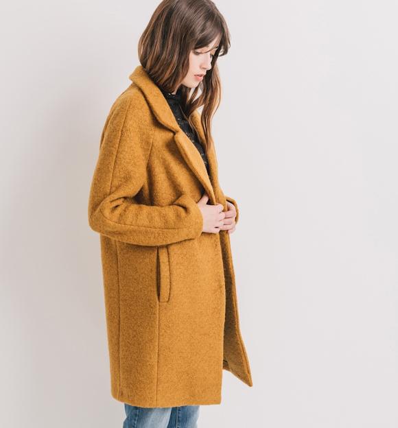 un manteau jaune tendance pour affronter l hiver avec style taaora blog mode tendances looks. Black Bedroom Furniture Sets. Home Design Ideas