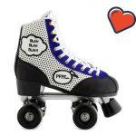 Ces patins style rétro donnent envie de se remettre aux patins à roulettes (comme Sophie Marceau dans la Boum)
