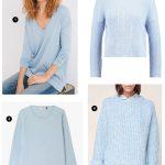 4 pulls bleu clair, couleur tendance automne-hiver 2017, à shopper tout de suite !