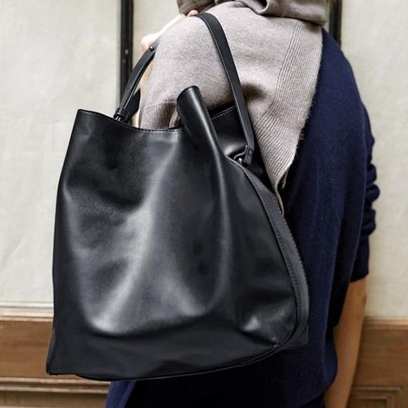 un sac seau noir pratique et tendance pour cet automne taaora blog mode tendances looks. Black Bedroom Furniture Sets. Home Design Ideas