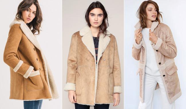 3 manteaux fa on peau lain e camel beige tendances et. Black Bedroom Furniture Sets. Home Design Ideas