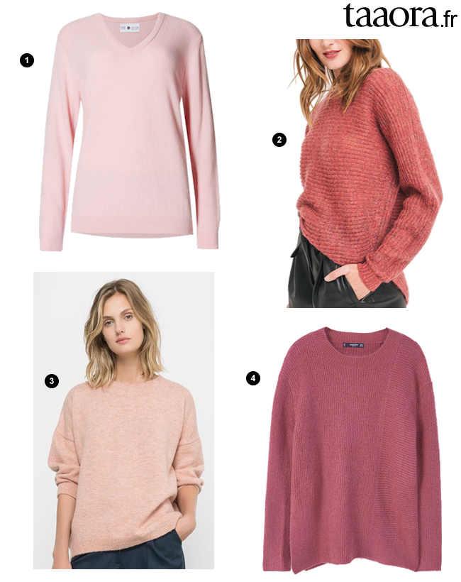 4 pulls roses en maille douce pour l automne hiver 2016 2017 taaora blog mode tendances looks - Couleur rose clair ...