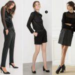 Comment adopter le total look noir pour les fêtes ? 3 tenues habillées en pantalon, combinaison et jupe