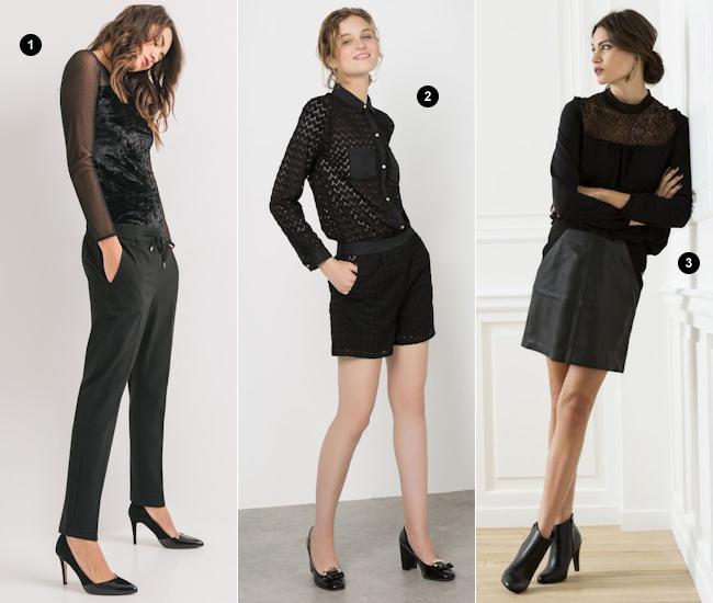 grande vente de liquidation meilleure vente codes promo Comment adopter le total look noir pour les fêtes ? 3 tenues ...