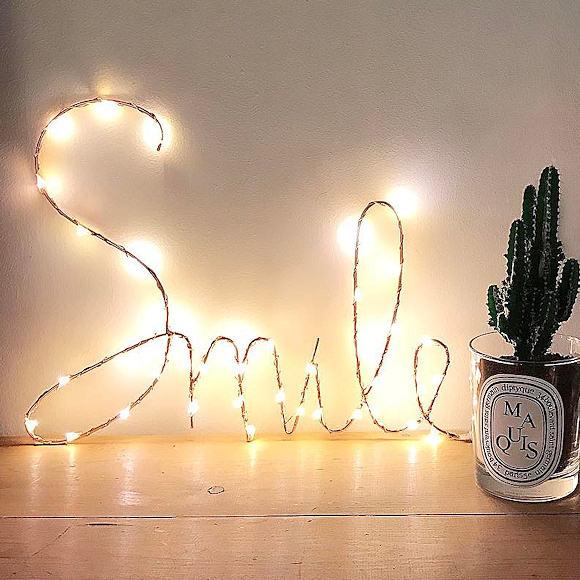 Déco murale lumineuse « Smile » :D – Taaora – Blog Mode, Tendances