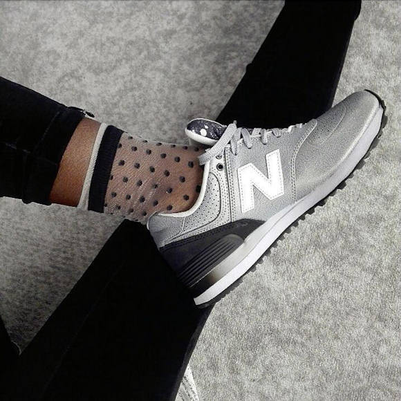 new balance noir à pois