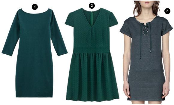 tendance mode la robe vert fonc taaora blog mode tendances looks. Black Bedroom Furniture Sets. Home Design Ideas