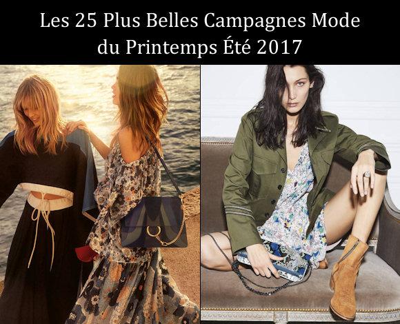 Campagnes mode printemps-été 2017