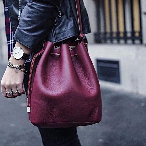 Blog Sac à Main Mode : Sac seau bordeaux o? trouver taaora mode